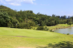Lake on golf course at the Constance Lemuria Stock Photography