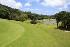 Lake on golf course at the Constance Lemuria Stock Image