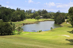 Lake on golf course at the Constance Lemuria Stock Images