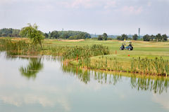 Lake at the golf course Stock Photography