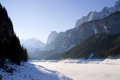 Lake Gosausee in winter Royalty Free Stock Image