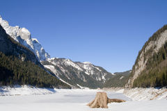 Lake Gosausee in winter Royalty Free Stock Photography