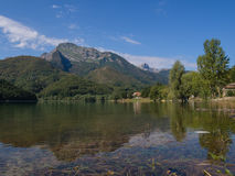 Lake Gramolazzo Apuan Alps Stock Images