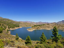 Lake on Gran Canaria Royalty Free Stock Photos