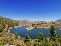 Lake on Gran Canaria. Presa de la Cueva de las Ninas, Gran Canaria, Canary Islands, Spain Royalty Free Stock Photos
