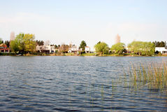 Lake. Great lake for a day of fishing Royalty Free Stock Photography