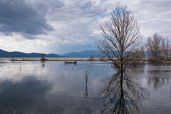 Lake in Greece Royalty Free Stock Images