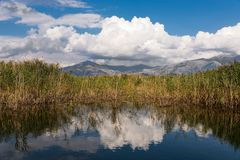 Lake in Greece stock photography