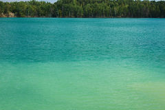 Lake with green water Stock Photo