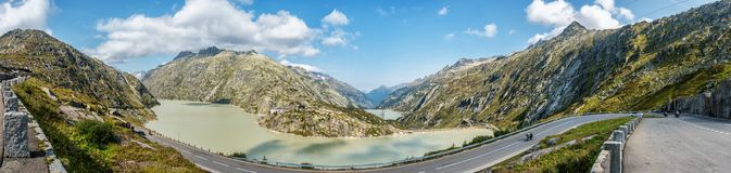 Grimselsee in the Bernese Alps, Switzerland Royalty Free Stock Photo