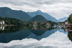 Lake  Grundlsee, Austria, cloudy sky Royalty Free Stock Photography