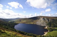 Lake Guinness in Ireland. Lake Guinness near Wicklow county in Ireland Stock Photo
