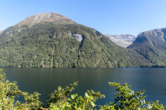 Lake Gunn in the Fiordland National Park, New Zealand Stock Photography