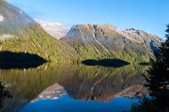 Lake Gunn, New Zealand. Lake Gunn, Fiordland, New Zealand Stock Image