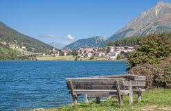 Lake Haidersee,south Tyrol,Italy Royalty Free Stock Photo