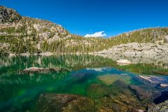 Lake Haiyaha, Rocky Mountains, Colorado, USA. Stock Images