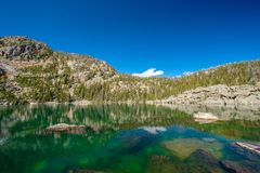 Lake Haiyaha, Rocky Mountains, Colorado, USA. Royalty Free Stock Images