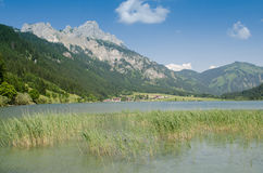 Lake Haldensee with mountain. In Tirol Austria Stock Images