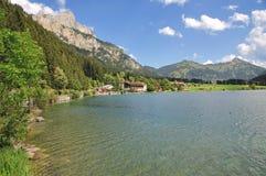 Lake Haldensee, Tirol, Österrike Royaltyfria Bilder