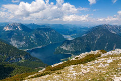 Lake Hallstatt - view from Dachstein Royalty Free Stock Photography