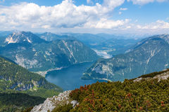 Lake Hallstatt - view from Dachstein Royalty Free Stock Photo