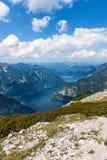 Lake Hallstatt - view from Dachstein Stock Photo
