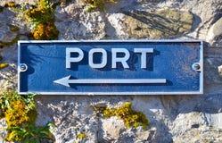 Lake harbor sign Royalty Free Stock Photography