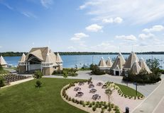 Lake Harriet Bandshell. Located by Lake Harriet in Minneapolis, MN Stock Photos