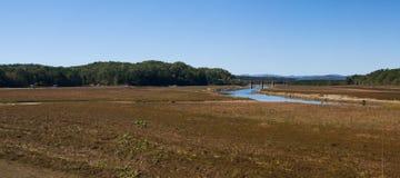 Lake Hartwell drought pano Stock Image