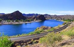 Lake Havasu. Scenic landscape of lake Havasu in Arizona stock image