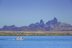 Lake Havasu Arizona. Boaters enjoy the lake at Havasu City, Arizona Royalty Free Stock Images