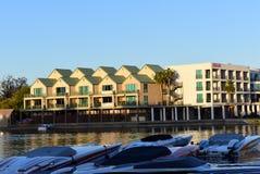 Lake Havasu City Bridgewater Channel Condos royalty free stock images