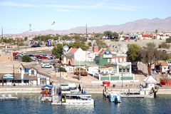 Lake Havasu City. United States - December 23, 2015: The shores of Lake Havasu with a boardwalk, city views and jetties on December 23, 2015 in stock photos