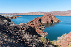 Lake Havasu, desert landscape Royalty Free Stock Photo