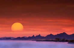 Lake Havasu Sunset Royalty Free Stock Images