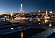 Lake- Havasustadt-Parade von Lichtern, London-Brücke lizenzfreie stockbilder