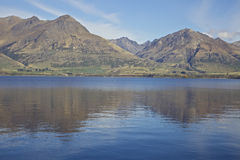 Lake Hawea. On the South Island of New Zealand. Near Wanaka and Queenstown Stock Photos