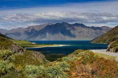 Lake Hawea New Zealand. Beatuiful Lake Hawea New Zealand Royalty Free Stock Photo