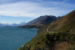 The Lake Hawea is one of the biggest and most popular lakes Royalty Free Stock Images
