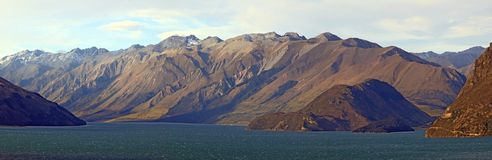 Lake Hawea Panorama Wanaka New Zealand Stock Photography