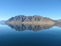 Lake Hawea Reflection Stock Photo