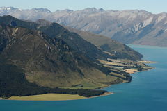 Lake Hawea shoreline, New Zealand Royalty Free Stock Image