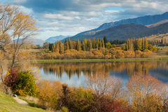 Lake Hayes in Autumn. Lake Hayes, Queenstown New Zealand in the autumn season Royalty Free Stock Image