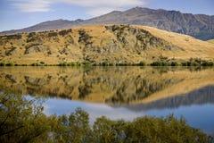 Lake Hayes New Zealand. South Island Reflection Stock Photos