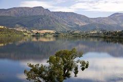 Lake Hayes New Zealand. South Island Reflection Stock Images