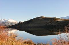 Lake Hayes at New Zealand. Sunny day at Lake Hayes on New Zealand Stock Images