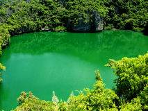 Lake in Heaven 2. Famous green lake of Angthong Marine National Park in Koh Samui - Thailand Stock Photo