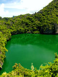 Lake in Heaven. Famous green lake of Angthong Marine National Park in Koh Samui - Thailand Stock Image