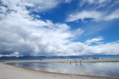 Lake of heaven. This is the wrong Chinese Tibet lake scenery Stock Images