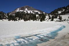 Lake Helen And Lassen Peak Royalty Free Stock Photography